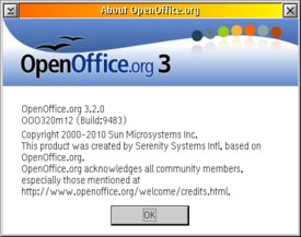 OpenOffice.org 3.2 for eComStation :: About